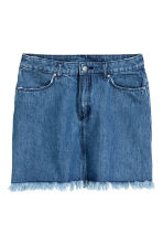 Worn denim skirt - Denim blue - Ladies | H&M CN 2
